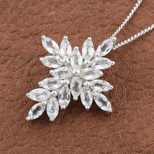 Jewelry - Golconda Diamond Topaz Platinum over Sterling